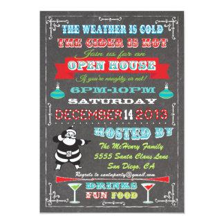 Casa abierta de la diversión del navidad estupendo invitación 12,7 x 17,8 cm