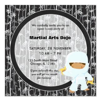 Casa abierta de los artes marciales invitación 13,3 cm x 13,3cm