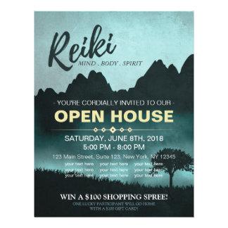 Casa abierta de Reiki del instructor natural del Flyer