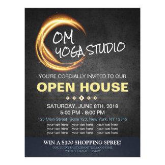 Casa abierta del oro de la YOGA del masaje del Flyer