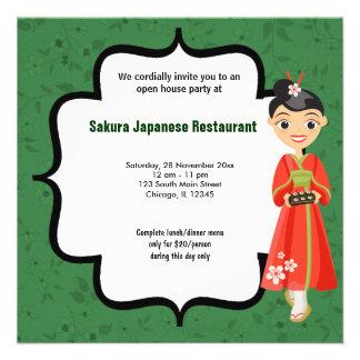 Casa abierta del sushi anuncios personalizados