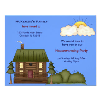 Casa abierta invitación 10,8 x 13,9 cm