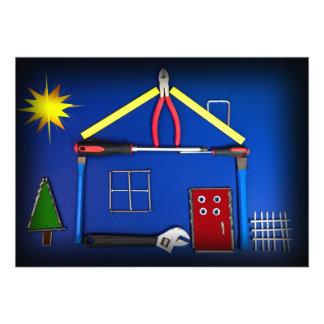 Casa abierta - nueva construcción invitaciones personalizada