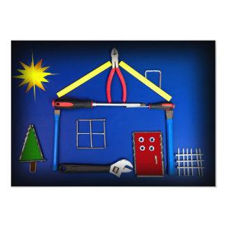 Casa abierta - nueva construcción invitación 12,7 x 17,8 cm