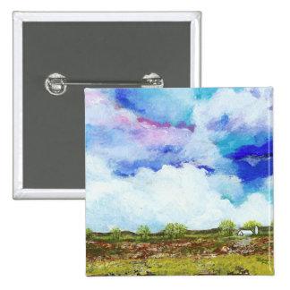 Casa abstracta gloriosa del granero de la granja chapa cuadrada 5 cm