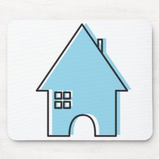Casa (azul) alfombrilla de ratón