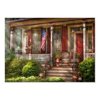Casa - Belvidere, NJ - un hogar americano clásico Invitación 12,7 X 17,8 Cm