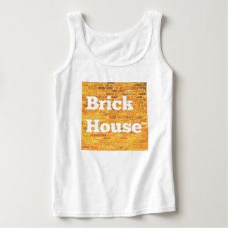 Casa brillante del ladrillo camiseta con tirantes