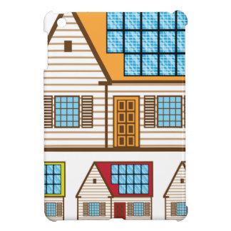 Casa con los paneles solares