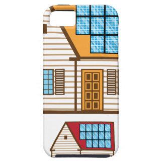 Casa con los paneles solares iPhone 5 Case-Mate funda