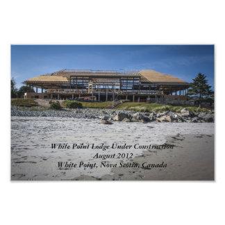 Casa de campo blanca de la playa de Pont (bajo con Impresion Fotografica
