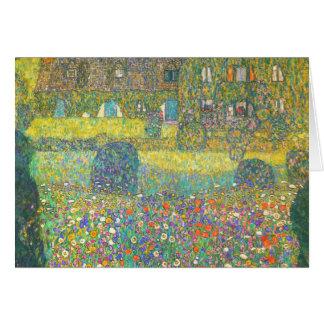 Casa de campo de Gustavo Klimt por el Attersee Tarjeta