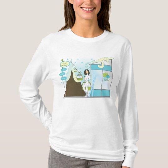 Casa de campo del esquí de la diversión camiseta