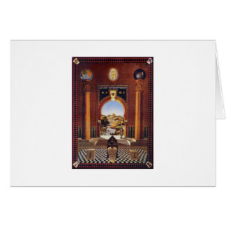 Casa de campo masónica tarjeta de felicitación