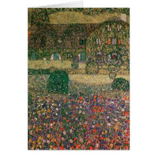 Casa de campo por el Attersee, c.1914 Tarjeta