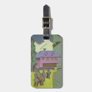Casa de Ernst Kirchner- Violett, montaña Nevado Etiquetas De Equipaje