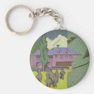 Casa de Ernst Kirchner- Violett, montaña Nevado Llaveros Personalizados
