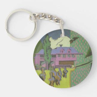 Casa de Ernst Kirchner- Violett, montaña Nevado Llavero Redondo Acrílico A Una Cara