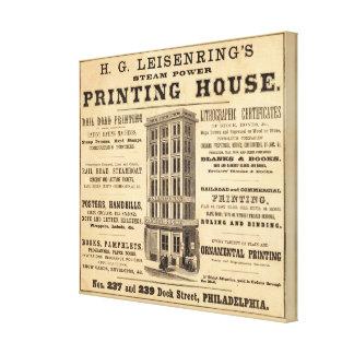 Casa de la impresión de Leisenring Impresiones En Lienzo Estiradas