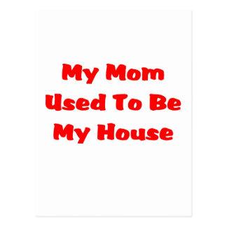 casa de la mamá tarjeta postal