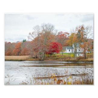 Casa de la orilla del lago impresiones fotograficas