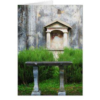 Casa de la pequeña fuente pagana tarjeta de felicitación