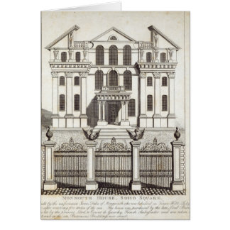 Casa de Monmouth, cuadrado de Soho Tarjeta De Felicitación