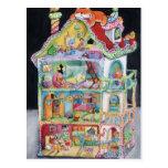 Casa de muñecas mágica postal