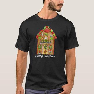 Casa de pan de jengibre del caramelo del navidad camiseta