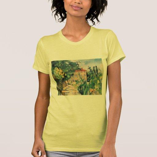 Casa de Paul Cezanne- con el tejado rojo Camiseta