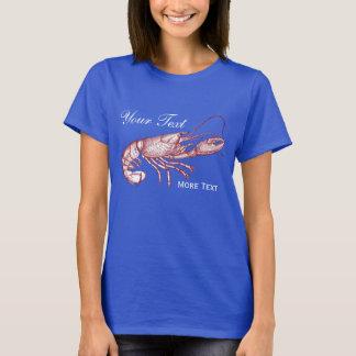 Casa de playa de encargo de la langosta roja camiseta