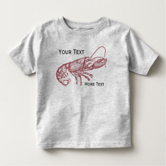 Casa de playa de encargo de la langosta roja camiseta de bebé