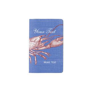 Casa de playa de encargo de la langosta roja cuaderno de bolsillo moleskine
