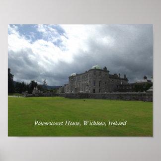 Casa de Powerscourt, Wicklow, Irlanda Póster