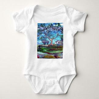 Casa de rancho de Blanco Tejas Body Para Bebé