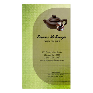 Casa de té tarjetas de negocios