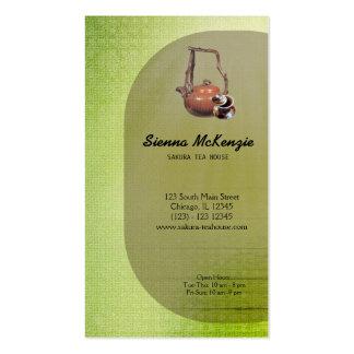 Casa de té plantillas de tarjetas de visita