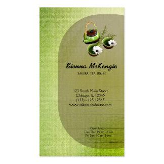 Casa de té tarjeta de negocio