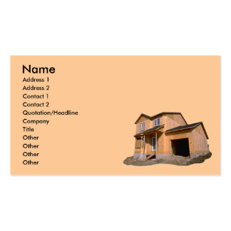 Casa debajo de la tarjeta de visita de construcció