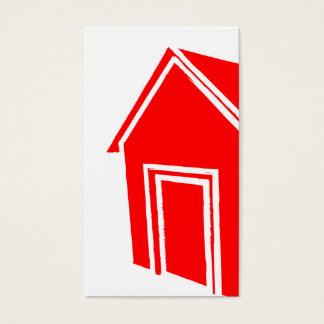 casa del estilo del grunge: construcción tarjeta de negocios