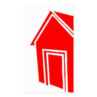 casa del estilo del grunge: construcción tarjetas de visita