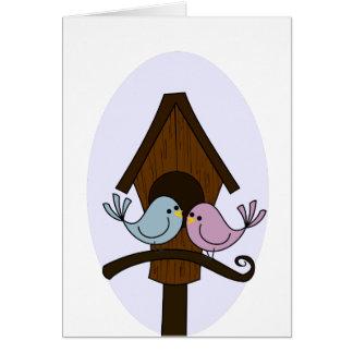 Casa del pájaro - nuevo hogar tarjeta de felicitación