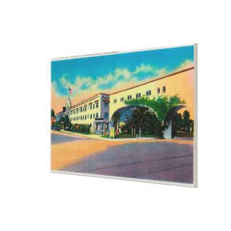 Casa Del Rey Hotel en la playa, Santa Cruz Impresión En Lienzo Estirada