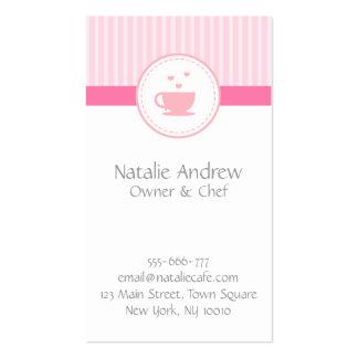Casa elegante, elegante, dulce del rosa, del café  tarjetas de visita