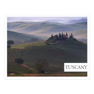 Casa en Toscana en la postal del borde de la