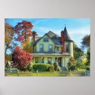 Casa - fantasía de la casa ideal póster