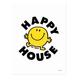 Casa feliz de Sr. Happy el   Postal