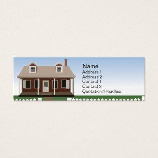 Casa - flaca tarjeta de visita mini