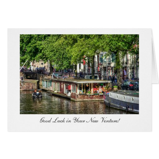 Casa flotante del canal, buena suerte en nueva emp tarjetón
