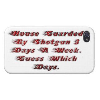 Casa guardada por la escopeta 3 días a la semana iPhone 4 coberturas